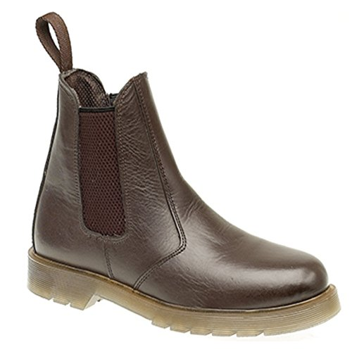 Air Boots 5 Dark Mens Leather UK Brown Grafters Dealer Cushion Sole ELLIS tHqxwgT