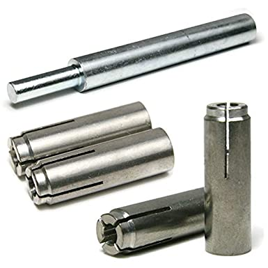 Stainless Steel Concrete /& Stone Drop in Female Expansion Anchors with Setting Tool 1//2-13 x 2 Qty 10