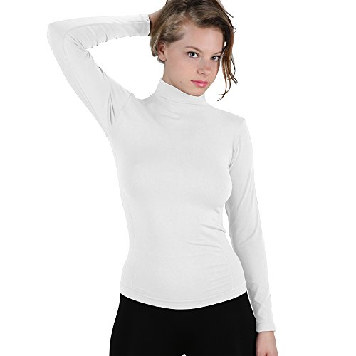 Nylon Mock Turtleneck - 1