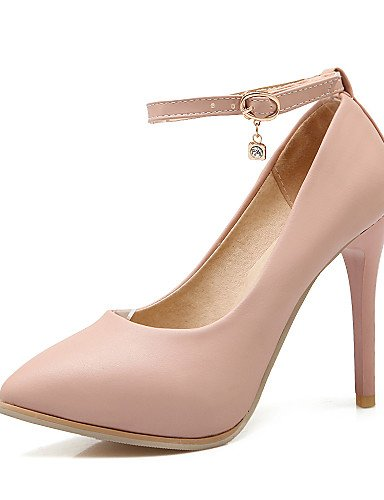 YHUJI GGX/zapatos de las mujeres de la PU de oficina talones primavera/otoño/talones del dedo del pie en punta&carrera/vestido/, black-us9.5-10/eu41/uk7.5-8/cn42, black-us9.5-10/eu41/uk7.5-8/cn42 beige-us9.5-10 / eu41 / uk7.5-8 / cn42
