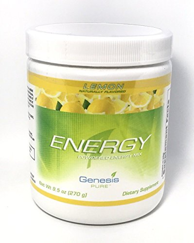 Genesis Pure Energy with Wheat Grass Lemon Blast Sugar-Free Powder Mix Dietary Supplement SPORTS DRINK in TUB