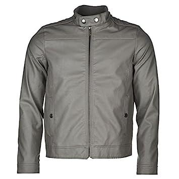 bc1c1b239 Lee Cooper PU Jacket Mens Grey Jackets Coats Outerwear XXLarge ...