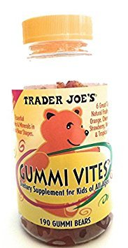 - Trader Joe's Kids Gummi Vites-190 Bears