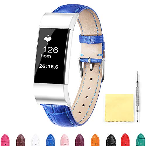 Replacement Watch Band for Fitbit Charge 2 Soft Leather Quic