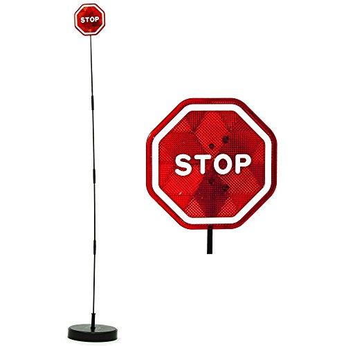 PARKEZ Flashing LED Light Parking Stop Sign For Garage