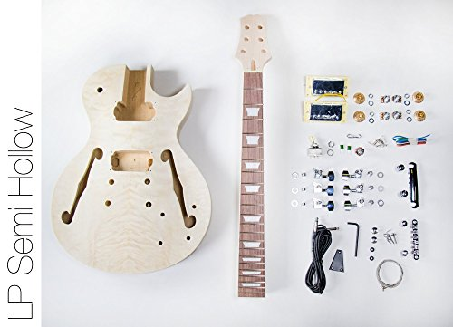 DIY Electric Guitar Kit ? Singlecut Semi Hollow Build Your Own Guitar Kit (Maple Body Kit)
