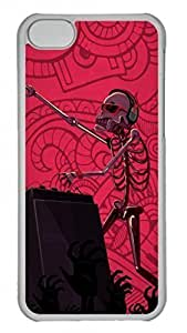 Transparent Hard Plastic Protective Case Cover for iPhone 6 plus (5.5),Skull Playing Music DJ Case Shell for iPhone 6 plus (5.5),Red Case for Samsung Galaxy Note 3 N9000