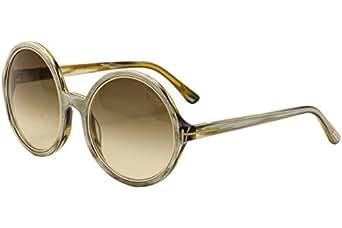 Tom Ford Sunglasses - Carrie / Frame: Brown horn / Pearl Lens: Grey