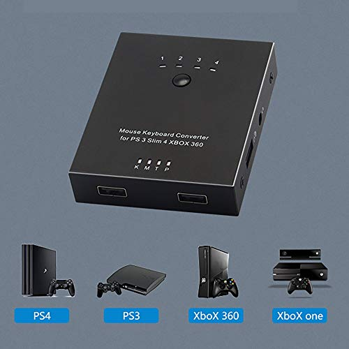 Pukido 360/FPS Game Controller Plug Mouse Controller Keyboard Adapter Portable Converter Compatible With Sony PS4/PS3/Xbox One - (Plug Type: Universal)
