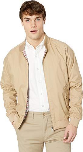 Ben Sherman Men's Harrington Jacket, Sand, Large (Best Harrington Jacket Brand)