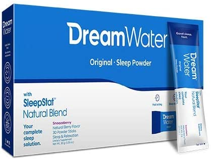 Dream Water Sleep Powder, Best Natural Sleep Aid, Melatonin, GABA, 5-HTP, Snoozeberry - 30 Count, Top Rated - Non-Habit Forming