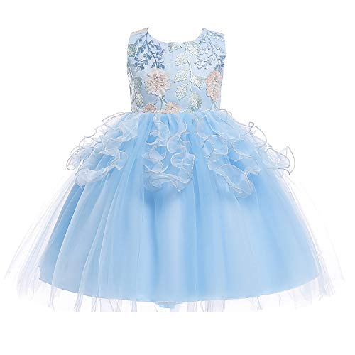 kids embroidery ball gown baby flower girl