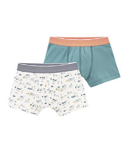 - Petit Bateau Boy's Boxer Shorts - Set of 2 Sizes 2-12 Style 48087 (Size 10 Style 48087 Boys)