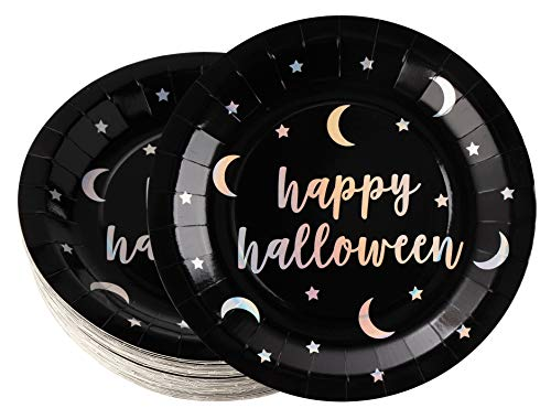 Disposable Plates - 48-Count Paper Plates, Halloween Party