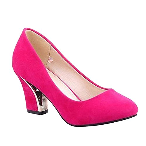 Shoes Court Red Carol Cover Shoes Heel High Concise Women's Elegant Rose 1wadxqOpw