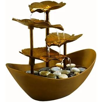 Amazon Com Homedics Envirascape Wfl Gdn Garden Leaves Illuminated Relaxation Fountain Copper