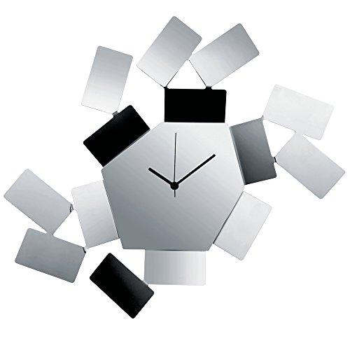 Alessi Stanza Scirocco Wall Clock Aleesi MT19, Silver