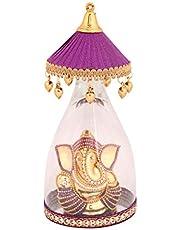 Itiha Purple Umbrella Ganesha Car Dashboard Ornament/Home Decor Showpiece