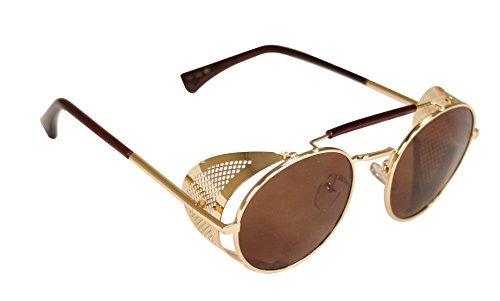 Historical Emporium Men's Chrononaut Steampunk Sunglasses ()