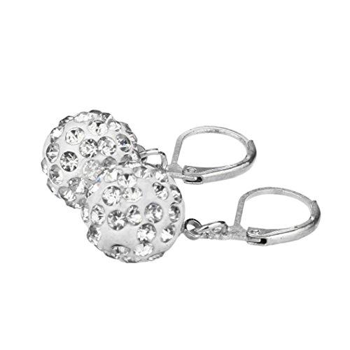 Price comparison product image HIRIRI Hot Sale Fashion Women's Sterling Silver Snowflake Stud Earrings Pendant Jewelry (White)