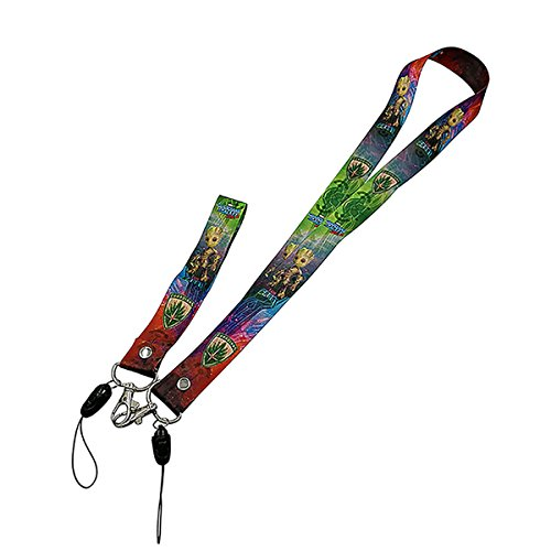 Guardians of The Galaxy Groot Lanyard with Groot Baby Wristband for Security Badges, ID's, Keys, etc -