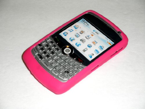 Premium (HOT PINK) Silicone Soft Skin Case Cover for RIM BlackBerry Curve 8300 8310 8320 ()