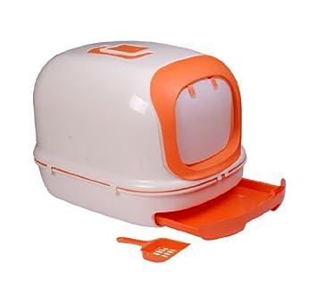 Caja de Arena para Gatos con Filtro y Pala 63x41x43 cm Arenero para Gato: Amazon.es: Equipaje