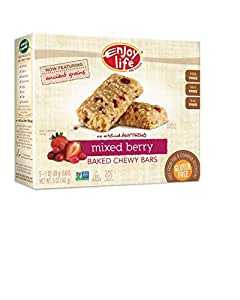 Enjoy Life Baked Chewy 1 Ounce Bars, Gluten Free, Dairy Free, Nut Free & Soy Free, Mixed Berry, 5 Count (Pack of 6)