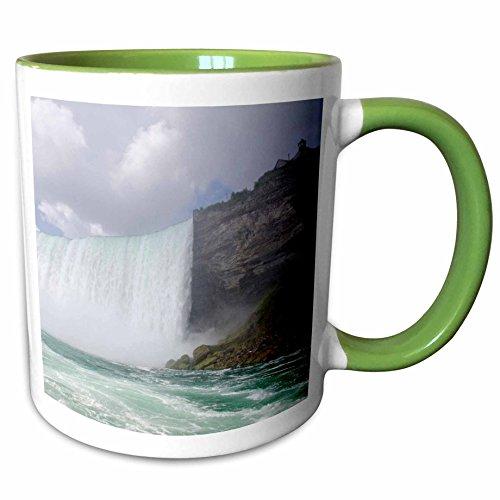 3dRose Danita Delimont - Niagara Falls - Waterfalls, Niagara Falls, Ontario, Canada - CN08 CMI0065 - Cindy Miller Hopkins - 11oz Two-Tone Green Mug - Outlet Falls Niagara Ontario