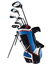 "Gear up your golfer for everything from the first tee to the last putt with a Junior Complete Set. Designed for golfers age 9-12 and height 53"" and up, this set includes an aerodynamic driver and hybrid, both with low CG, for optimized..."