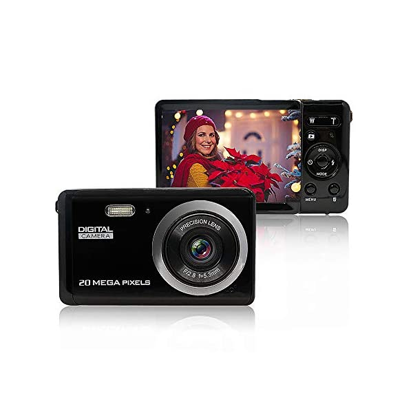 MiniDigitalCameraforPhotographywith2.8InchLCD8XDigitalZoom,20MPHDDigitalCameraRechargeablePointandShootCamera,...