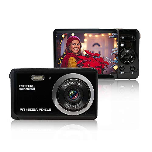Mini Digital Camera for Photography with 2.8 Inch LCD 8X Digital Zoom, 20MP HD Digital Camera Rechargeable Point and Shoot Camera, Indoor Outdoor for Kids/Seniors/Learner(Black) (Digital Camera Photo)