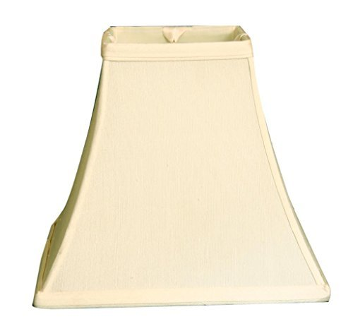"Royal Designs 10"" Square Bell Basic Lamp Shade, Eggshell, 6"
