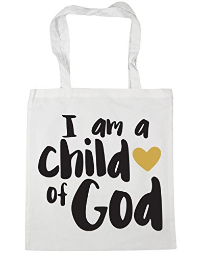 White am litres Tote 42cm x38cm Shopping Bag Beach I a of Gym child God 10 HippoWarehouse 5gZnx1C