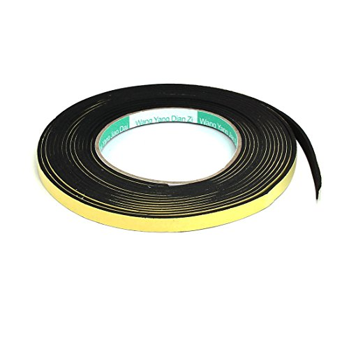 uxcell 8mmx2mm Singel Sided Sponge Tape Adhesive Sticker Foam Glue Strip Sealing 5 Meters (Sign Post Black)