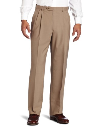 Austin Reed Men's Classic Dress Pant, Tan 40 ()