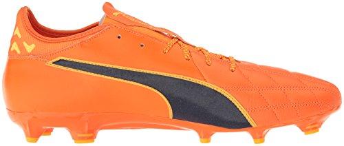 Scarpe da calcio Evotouch 3 Lth FG da uomo, Pagliaccio arancione Fish-Pe, 10,5 M US