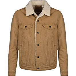 Levi's Type 3 Sherpa Trucker Jackets Men Desert/Boots/Canvas/Sherpa/Trucker Denim Jackets