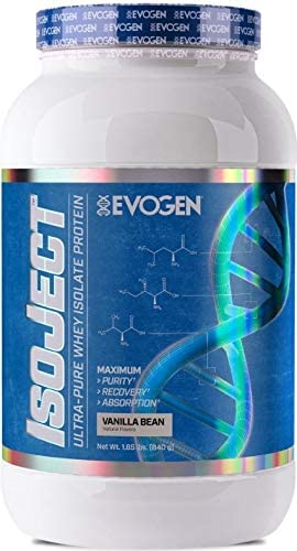 Evogen Isoject Premium Whey Isolate w Ignitor Enzymes Vanilla Bean 28 Servings …