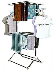 شماعة ملابس ومنشر قائم للغسيل بتصميم مزدوج من ليوستار - CD-1212