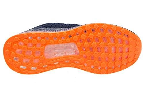 gibra - Zapatillas de running de tela para hombre dunkelblau/neonorange