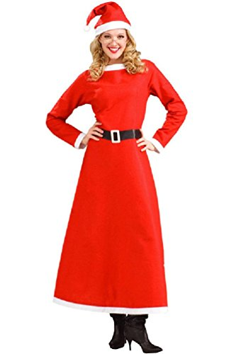 [8eighteen Simply Mrs. Santa Adult Costume (STD)] (Plus Size Simply Santa Costumes)