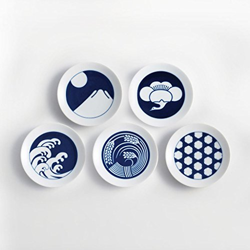 Kihara Mamezara Season Plates Set of 5