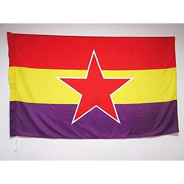 AZ FLAG Bandera ESPAÑA Republicana Estrella del EJÉRCITO Popular 150x90cm para Palo - Bandera DE LA Republica ESPAÑOLA 90 x 150 cm: Amazon.es: Hogar