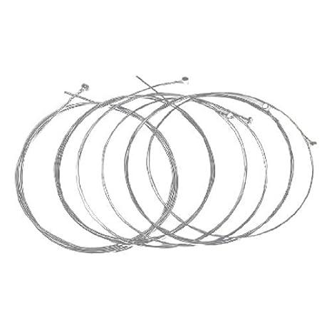 6 stuks eléctrica akoest ische Gitaar snaren vervangend onderdeel Silver Tone: Amazon.es: Instrumentos musicales
