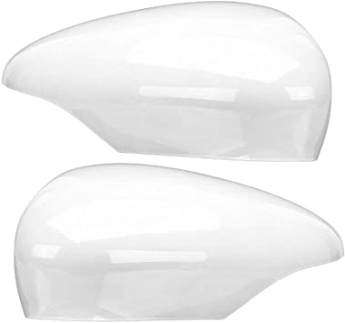 Door Wing Mirror Cover for Fiesta MK7 Left Right Side Frozen White