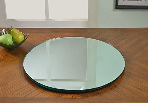 Milan Eloise Mirrored Lazy Susan, Clear by Milan