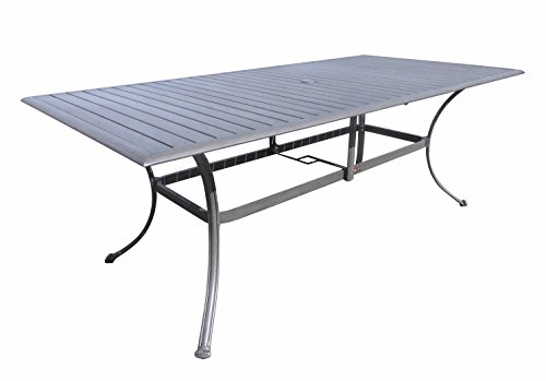 Panama Jack PJO-1501-GRY-RT Newport Beach Rectangular Dining Table, Grey