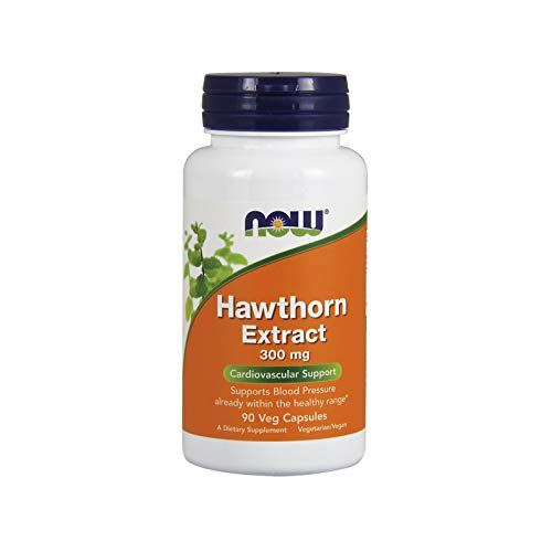 NOW Supplements, Hawthorn Extract 300 mg, 90 Veg Capsules (Best Hawthorn Berry Extract)