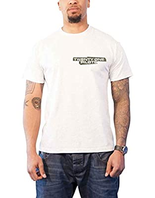 Twenty One Pilots T Shirt Trench Jumpwave Band Logo Official Mens White